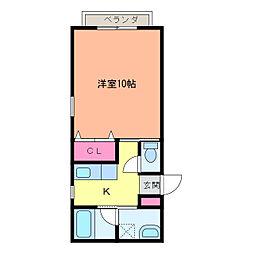 ハウスM&M[1階]の間取り