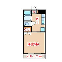 バス 石塚下車 徒歩3分の賃貸マンション 1階1Kの間取り