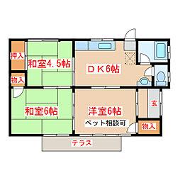 [一戸建] 鹿児島県鹿児島市和田2丁目 の賃貸【/】の間取り