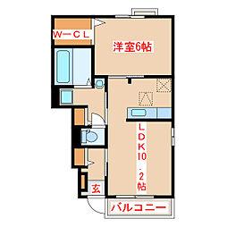 JR指宿枕崎線 枕崎駅 バス45分 保健所前下車 徒歩12分の賃貸アパート 1階1LDKの間取り