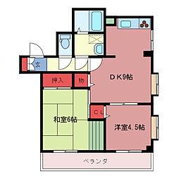 マスヤマンション[3階]の間取り