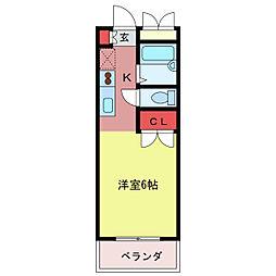 郡慶マンション6[2階]の間取り