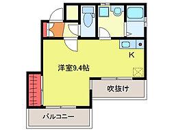 キネティックビル[4階]の間取り