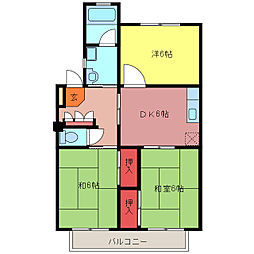 リバーサイドマンション[305号室]の間取り