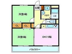ユアーズホーム[301号室]の間取り