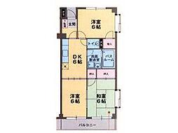 ロイヤルプラザ米山B[2階]の間取り