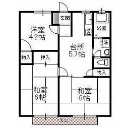 サンハイツ徳倉[2階]の間取り