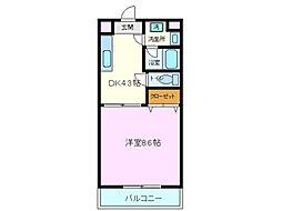 エール15[1階]の間取り