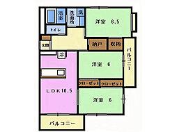 レアールマンションラピス[1階]の間取り