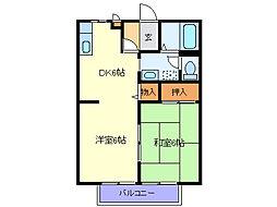 サンライフ菅沼[2階]の間取り