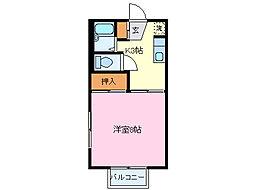 セジュール90B[2階]の間取り