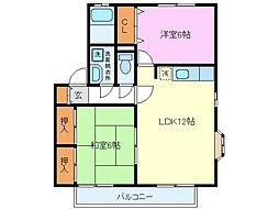 TwinHouseA[2階]の間取り