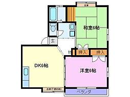 クエスト浄住[2階]の間取り