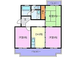 ラ・フォーレくらばI[3階]の間取り