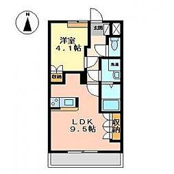 ベルフィーユ Miya[1階]の間取り