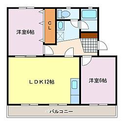 諏訪部ハイツ[3階]の間取り