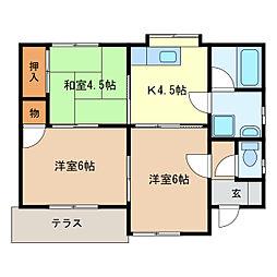 [一戸建] 栃木県足利市山川町 の賃貸【/】の間取り