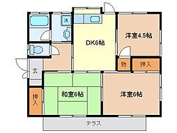 [一戸建] 栃木県足利市利保町3丁目 の賃貸【/】の間取り