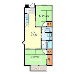 田口コーポA棟[A103号室]の間取り