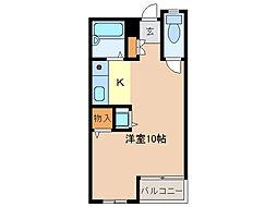 シングルハウス・ノア[206号室]の間取り