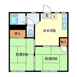 沼田アパート[102号室]の間取り
