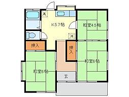 [一戸建] 栃木県足利市山下町 の賃貸【/】の間取り