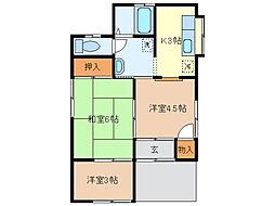 [一戸建] 栃木県足利市本城1丁目 の賃貸【/】の間取り