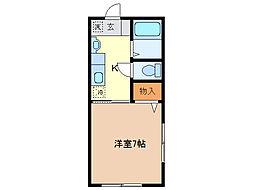 堀込レジデンス[2階]の間取り