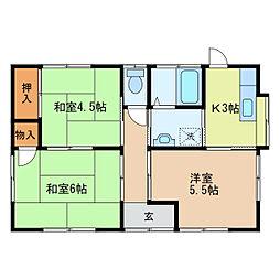 [一戸建] 栃木県足利市大前町 の賃貸【/】の間取り