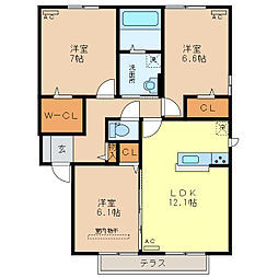 TT Residence[1階]の間取り