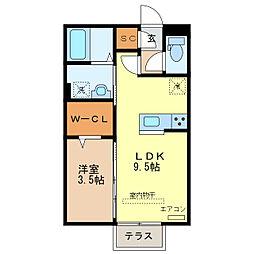 セラヴィ(西新井町)[1階]の間取り