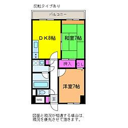 アークハイム新潟[7階]の間取り