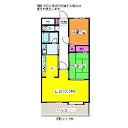 プライムローズ紫竹山[4階]の間取り