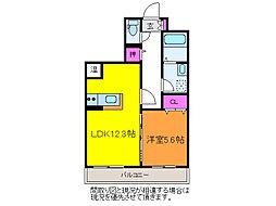 Hero近江[3階]の間取り