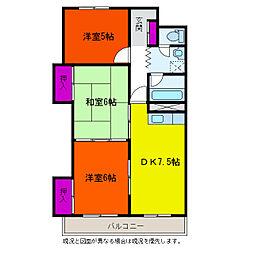 新潟駅南ハイツ[3階]の間取り
