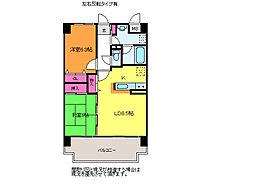 新潟県新潟市中央区新和1丁目の賃貸マンションの間取り