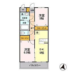 新潟県新潟市中央区女池西2丁目の賃貸マンションの間取り
