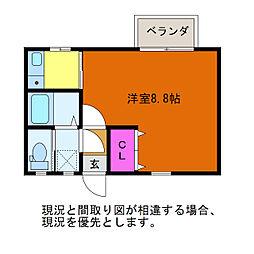 クレセントKENT III[2階]の間取り