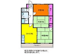 オークランド紫竹[2階]の間取り