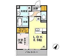 トリリオン[2階]の間取り