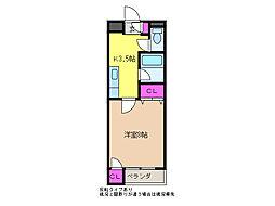 藤コーポ(けやき通り)[3階]の間取り