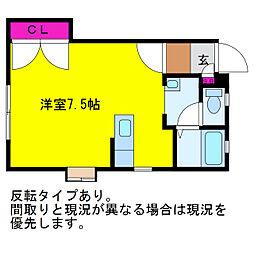 新潟県新潟市中央区米山3丁目の賃貸アパートの間取り