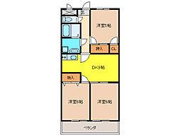 Tステージミカーレ[3階]の間取り