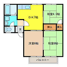 ファミール88[2階]の間取り