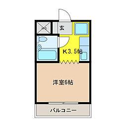 メゾンKOWA[2階]の間取り