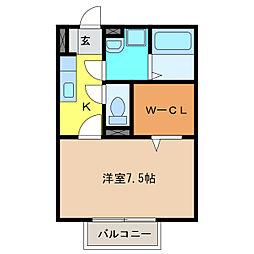 セジュール アン[2階]の間取り