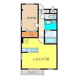 クバルティーラM[2階]の間取り