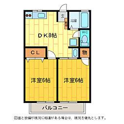 レトア松茂[1階]の間取り