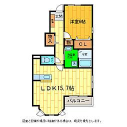 徳島県板野郡北島町鯛浜字川久保の賃貸アパートの間取り