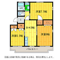 メナーハイツ藍[3階]の間取り